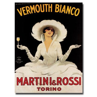 'Vermouth Bianco Martini Rossi' Canvas Art