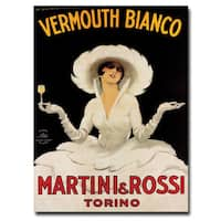 'Vermouth Bianco Martini Rossi' Canvas Art - Multi
