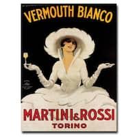 'Vermouth Bianco Martini Rossi' Canvas Art - Multi