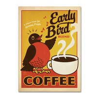 Anderson Design Group 'Early Bird Blend Coffee' Canvas Art - Multi