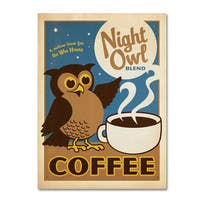 Anderson Design Group 'Night Owl Blend Coffee' Canvas Art - Multi