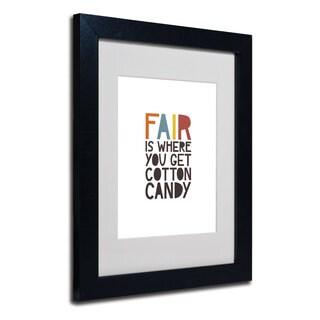 Megan Romo 'Fair IV' White Matte, Black Framed Wall Art