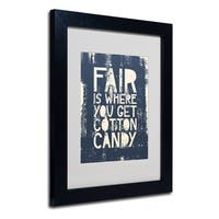 Megan Romo 'Fair V' White Matte, Black Framed Wall Art