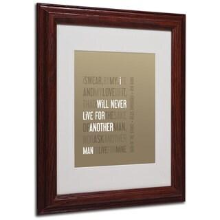 Megan Romo 'Oath of the Strike' White Matte, Wood Framed Wall Art