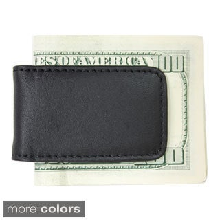 Royce Leather Magnetic Money Clip with Suede Lining
