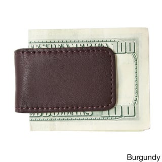 Royce Leather Magnetic Money Clip with Suede Lining (Option: BURGUNDY)