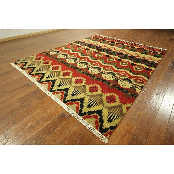 Modern Rugs 8 X 10: Hand-knotted Wool Oriental Unique Modern Design Area Rug