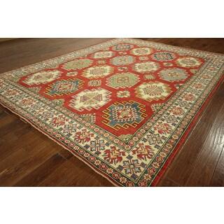 Hand-knotted Wool Kazak Handmade Tribal Area Rug (9' x 12', 9' x 10')