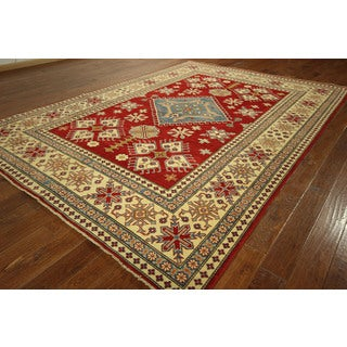 Hand-knotted Wool Kazak Handmade Tribal Area Rug (8' x 12')
