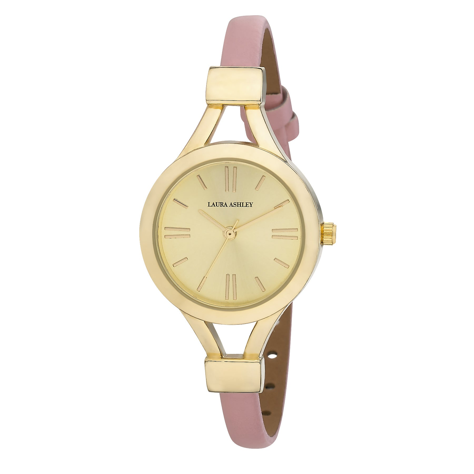 Laura Ashley Women's Thin Watch (Pink/Gold), Size One Siz...