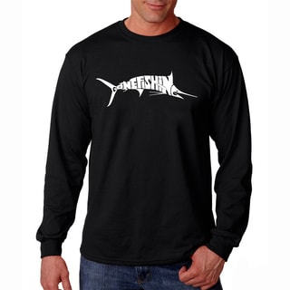 Men's Los Angeles Pop Art Gone Fishin' Marlin Long Sleeve T-Shirt