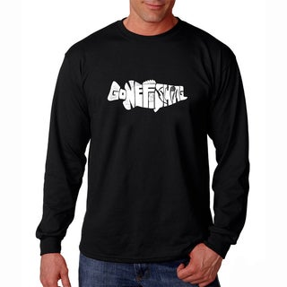 Men's Los Angeles Pop Art Gone Fishin' Bass Long Sleeve T-Shirt