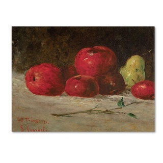 Gustave Courbet 'Still Life Apples and Pears' Canvas Art
