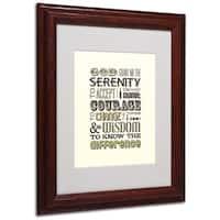 Megan Romo 'Serenity Prayer I' White Matte, Wood Framed Wall Art