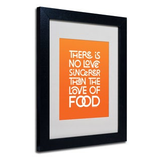 Megan Romo 'Sincere Love of Food IV' White Matte, Black Framed Wall Art