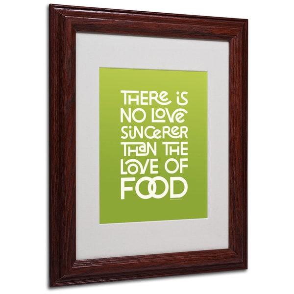 Megan Romo 'Sincere Love of Food' White Matte, Wood Framed Wall Art