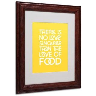 Megan Romo 'Sincere Love of Food V' White Matte, Wood Framed Wall Art