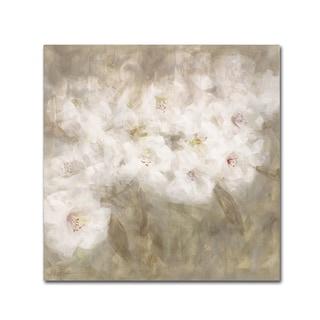 Li Bo 'Wild Flowers I' Canvas Art