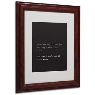 Megan Romo 'Why I Love You' White Matte, Wood Framed Wall Art