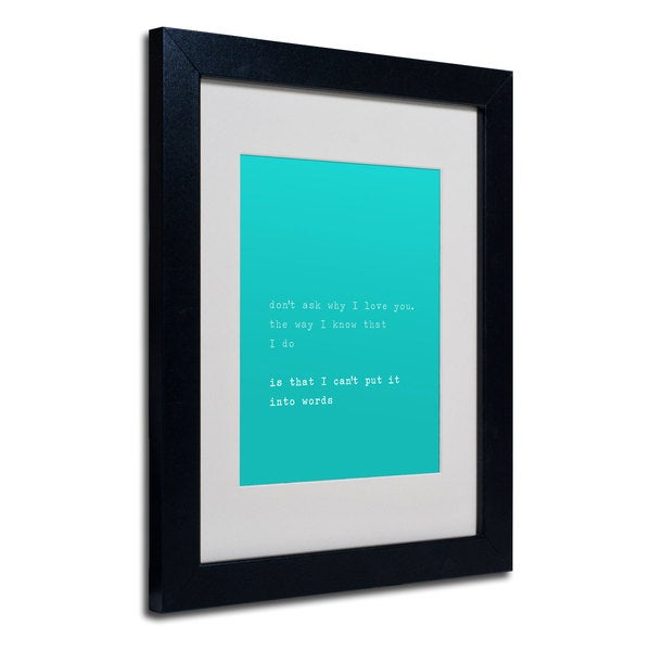 Megan Romo 'Why I Love You II' White Matte, Black Framed Wall Art