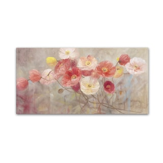 Li Bo 'Wild Poppies I' Canvas Art