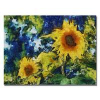 Michelle Calkins 'Sunflowers' Canvas Art