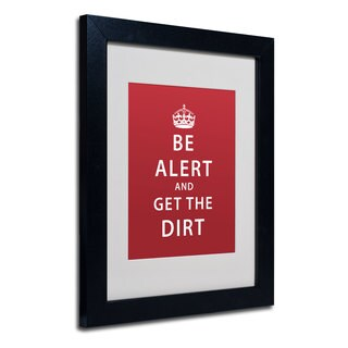 Megan Romo 'Alert Dirt Marooned' White Matte, Black Framed Wall Art