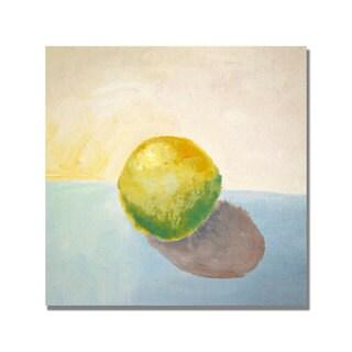 Michelle Calkins 'Yellow Lemon Still Life' Canvas Art