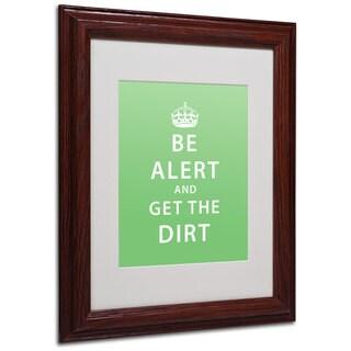 Megan Romo 'Get the Dirt' White Matte, Wood Framed Wall Art
