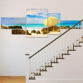 Preston 'Bermuda Umbrella' 5 Panel Art Set