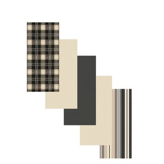 Flat Woven Kitchen Towel (Set of 5)