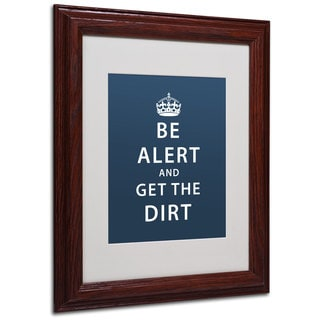 Megan Romo 'Get the Dirt II' White Matte, Wood Framed Wall Art