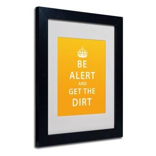 Megan Romo 'Get the Dirt III' White Matte, Black Framed Wall Art