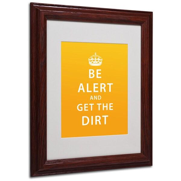 Megan Romo 'Get the Dirt III' White Matte, Wood Framed Wall Art