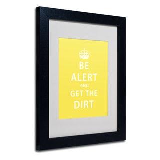 Megan Romo 'Get the Dirt IV' White Matte, Black Framed Wall Art