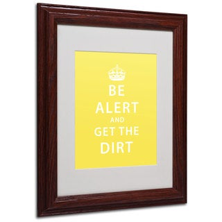 Megan Romo 'Get the Dirt IV' White Matte, Wood Framed Wall Art