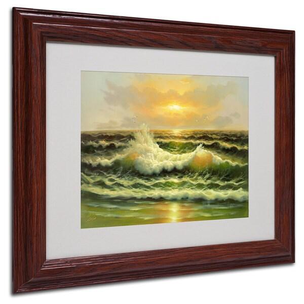 Rio 'Sunset' White Matte, Wood Framed Wall Art
