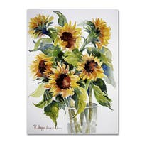 Rita Auerbach 'Sunflowers' Canvas Art