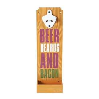 Elements Beer Beards Bacon Wall Bottle Opener