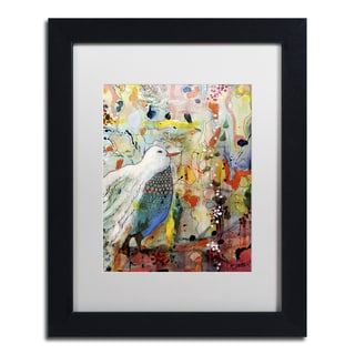 Sylvie Demers 'Vers Toi' White Matte, Black Framed Wall Art