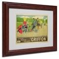 Walter Thor 'Griffon Cycles & Motors' White Matte, Wood Framed Wall Art