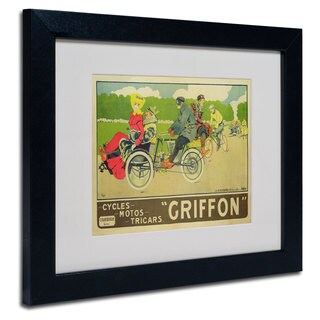 Walter Thor 'Griffon Cycles & Motors' White Matte, Black Framed Wall Art