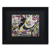 Dan Monteavaro 'Apologies' Black Matte, Black Framed Wall Art