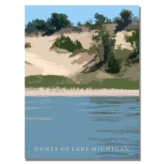 Michelle Calkins 'Dunes of Lake Michigan II' Canvas Art