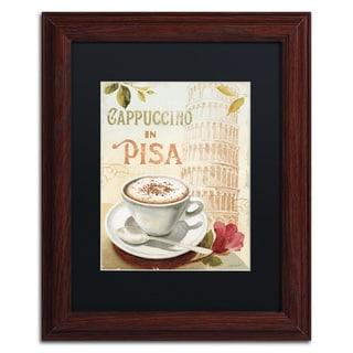 Lisa Audit 'Cafe in Europe IV' Black Matte, Wood Framed Wall Art