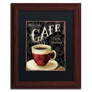 Lisa Audit 'Today's Coffee I' Black Matte, Wood Framed Wall Art