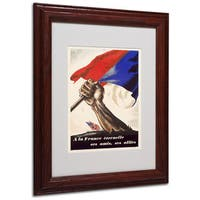 Poster for Liberation of France' White Matte, Wood Framed Wall Art