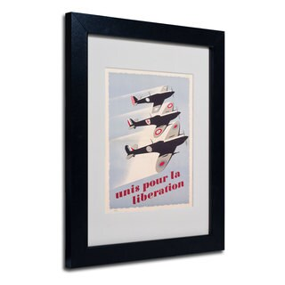 Propaganda Poster for Liberation' White Matte, Black Framed Wall Art