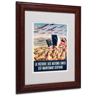 Propaganda Poster from World War II' White Matte, Wood Framed Wall Art