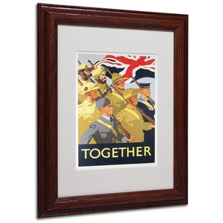 Together Propaganda Poster' White Matte, Wood Framed Wall Art